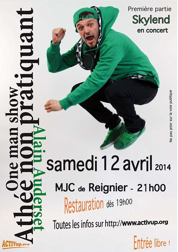 one man show alain auderset à Reignier le 12 avril 2014