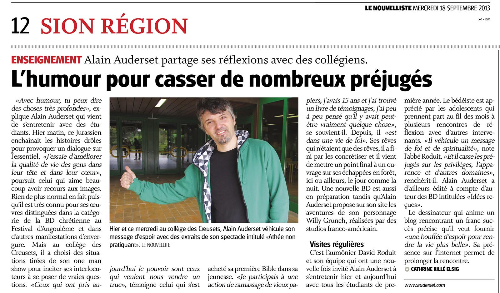 NFJ3_Mercredi_18_septembre : Le Nouvelliste : 12 : Page 12
