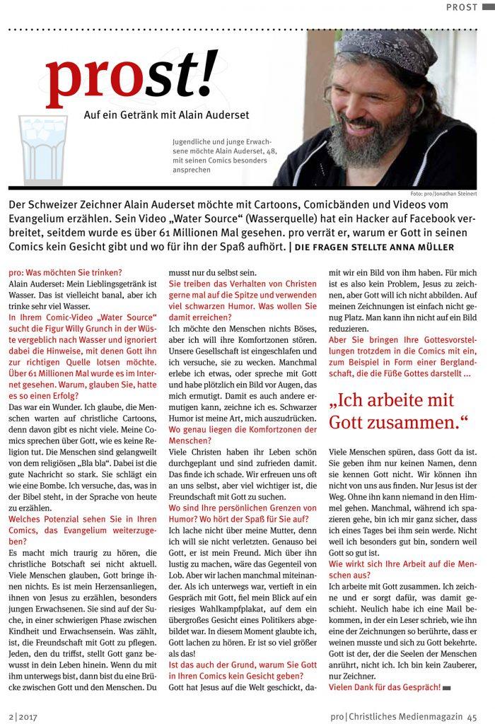 Alain Auderset de prost mai 2017