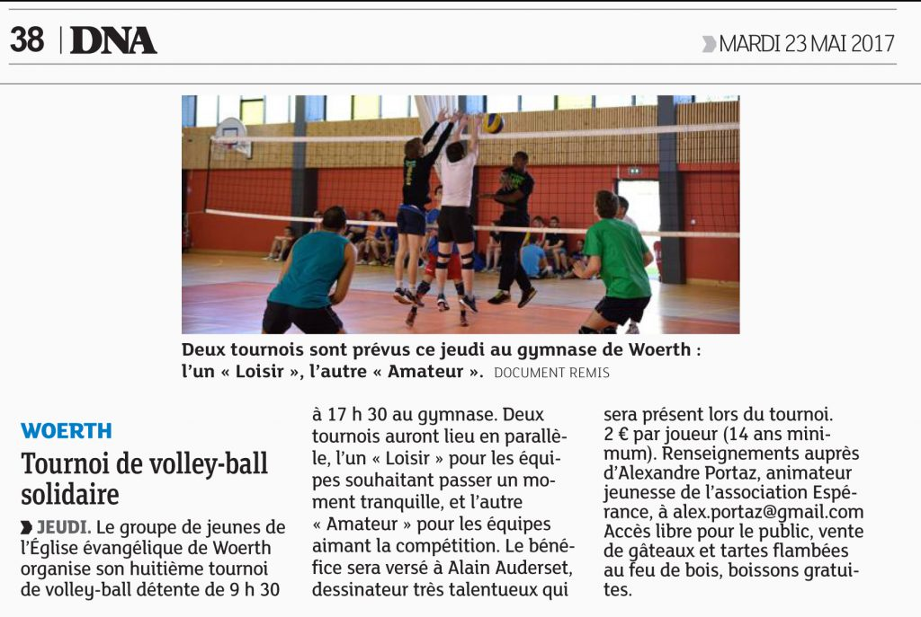 dna volley ball 23 mai 2017